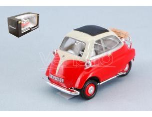 Cararama Motorama CA4-12350 BMW ISETTA 250 RED/CREAM 1:43 Modellino