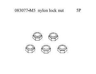 Smartech 083077 Dado di bloccaggio in nylon M5 1:8 5 pezzi Ricambi Accessori