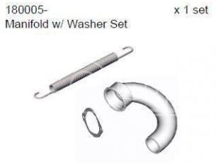 Smartech 180005 Set di tubi di scarico di piegatura 1:8 Ricambi Accessori