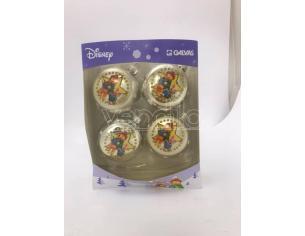 Set 4 Palline argento Winnie e Pimpi Disney Winnie The Pooh Scatola Rovinata