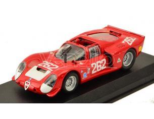 Best Model BT9147-2 ALFA ROMEO 33.2 N.264 21th TARGA FLORIO 1969 VACCARELLA-DE ADAMICH 1:43 Modellino