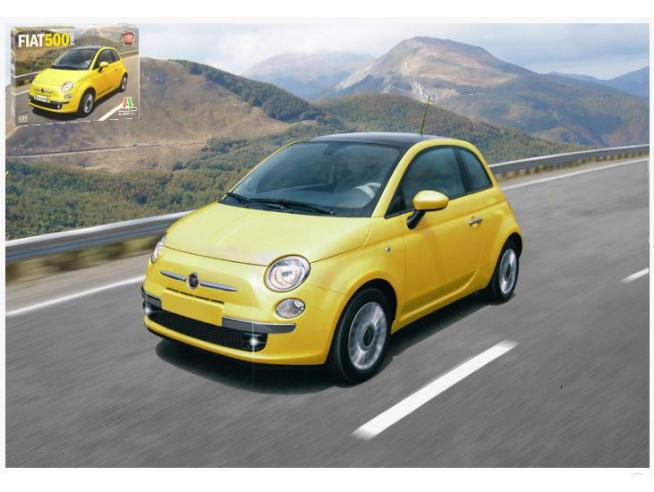 Italeri IT3647 FIAT 500 2007 KIT 1:24 Modellino
