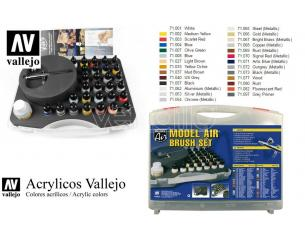 VALLEJO MODEL AIR COLOR SET AND AIRBRUSH 71172 COLORI
