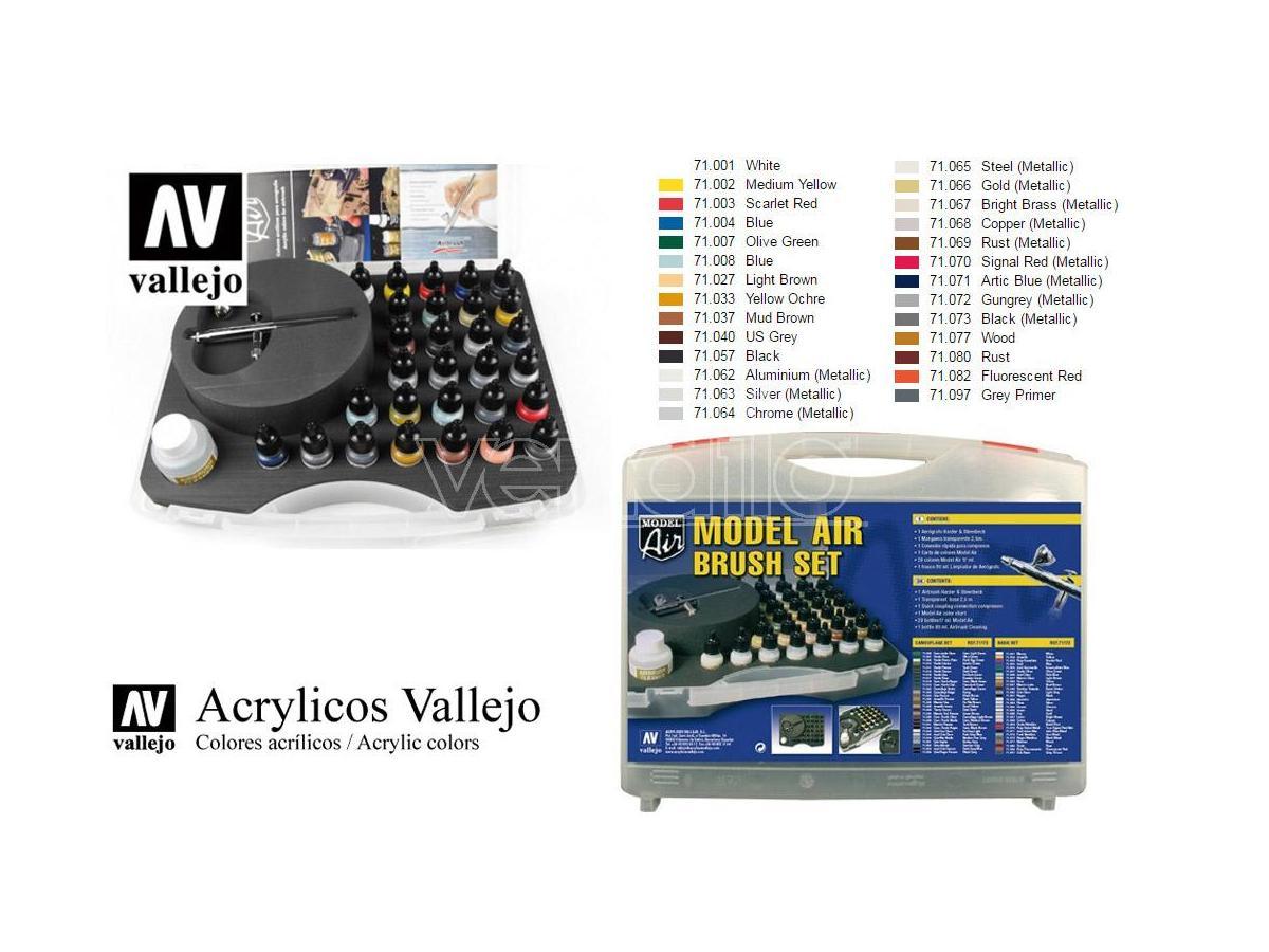Vallejo Model Air Color Set E Airbrush 71172 Colori
