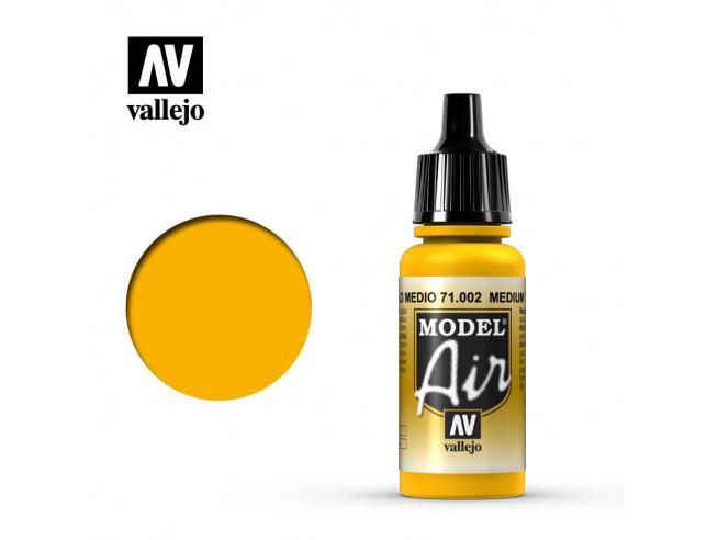 VALLEJO MODEL AIR MEDIUM YELLOW 71002 COLORI