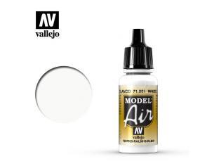 VALLEJO MODEL AIR WHITE 71001 COLORI