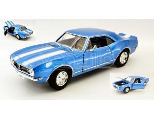 Hot Wheels LDC92188BL CHEVROLET CAMARO Z 28 1967 BLUE W/WHITE STRIPES 1:18 Modellino