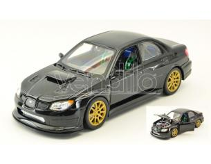 Welly WE22487BK SUBARU IMPREZA WRX STi BLACK 1:24-27 Modellino