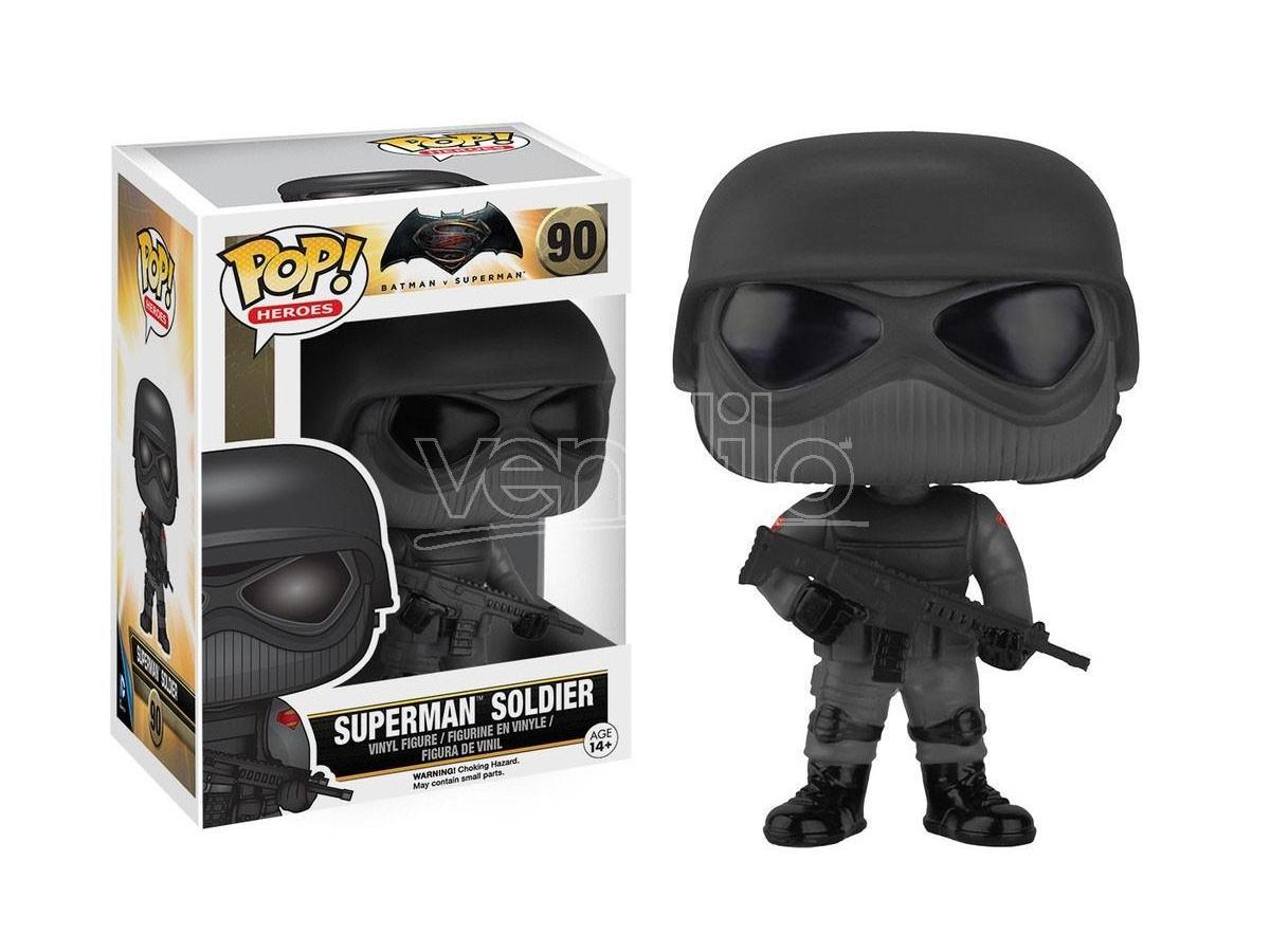 Funko Batman vs Superman POP Heroes Vinile Soldato Superman 9cm Scatola rovinata