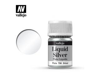 VALLEJO MODEL COLOR LIQUID SILVER ALCOHOL 70790 COLORI
