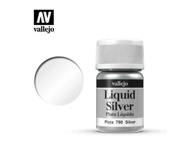 VALLEJO MODEL COLOR LIQUID SILVER ALCOHOL 70790 COLORI