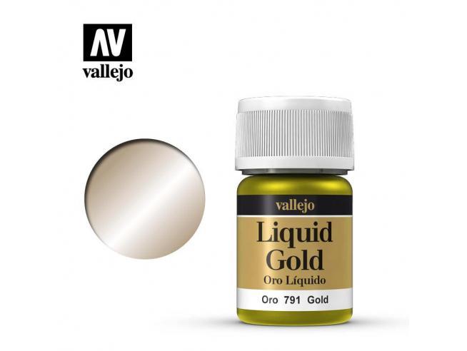VALLEJO MODEL COLOR LIQUID GOLD ALCOHOL 70791 COLORI