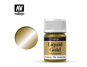 VALLEJO MODEL COLOR LIQUID GR GOLD ALCOHOL 70795 COLORI