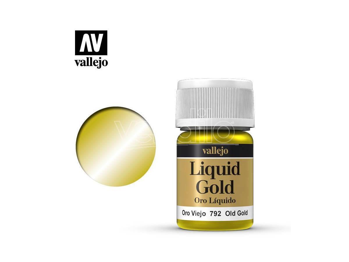 VALLEJO MODEL COLOR LIQUID OL GOLD ALCOHOL 70792 COLORI