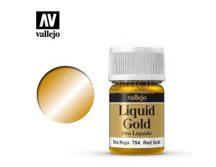 VALLEJO MODEL COLOR LIQUID RD GOLD ALCOHOL 70794 COLORI