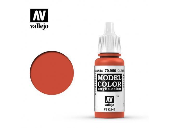 VALLEJO MC 025 CLEAR ORANGE 70956 COLORI