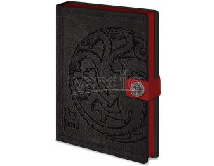 PYRAMID INTERNATIONAL GAME OF THRONES TARGARYEN NOTEBOOK PREM TACCUINO