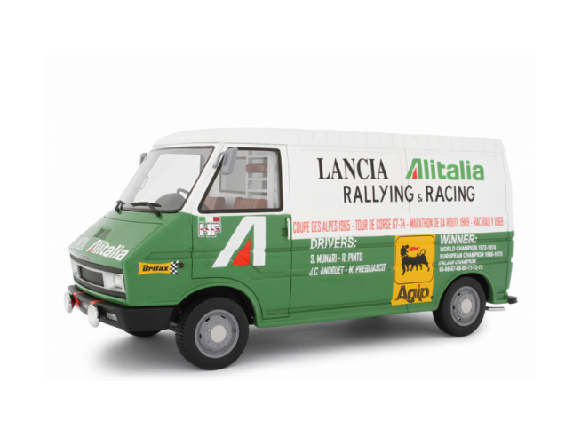 Ixo model LM107A1 FIAT 242 ASSISTENZA LANCIA 1974 1:18 Modellino