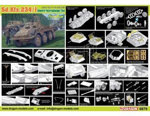 Dragon D6879 SD.KFZ.234/1 SCHWERER PANZERSPAHWAGEN (2 cm) KIT 1:35 Modellino