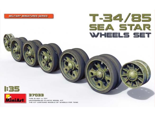 Miniart MIN37033 T-34/85 SEA STAR WHEELS SET KIT 1:35 Modellino