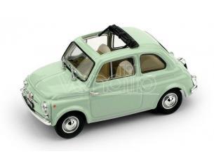 Brumm BM0404-13 FIAT 500D APERTA 1960-1965 VERDE CHIARO INTERNO BEIGE-AVORIO 1:43 Modellino