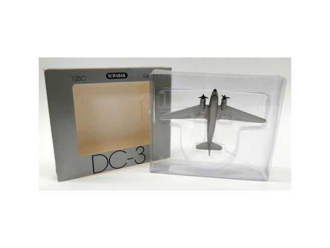 Schabak Aeroplano In Metallolo Douglas Dc-3 Delta Air Lines 1/250 Modellino