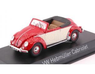 Norev NV840022 VW HEBMULLER 1949 RED & CREAM 1:43 Modellino