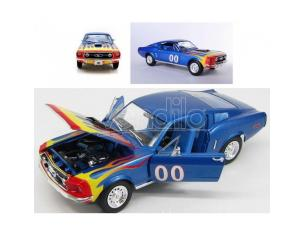 Ford Mustang 1968 Hazzard Cooter's  Blu con fiamme 21957 1:18 Modellino