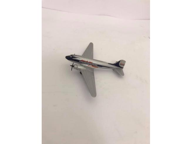 Schabak Aeroplano in Metallo Douglas DC-3 United Air Lines 1/250 Modellino