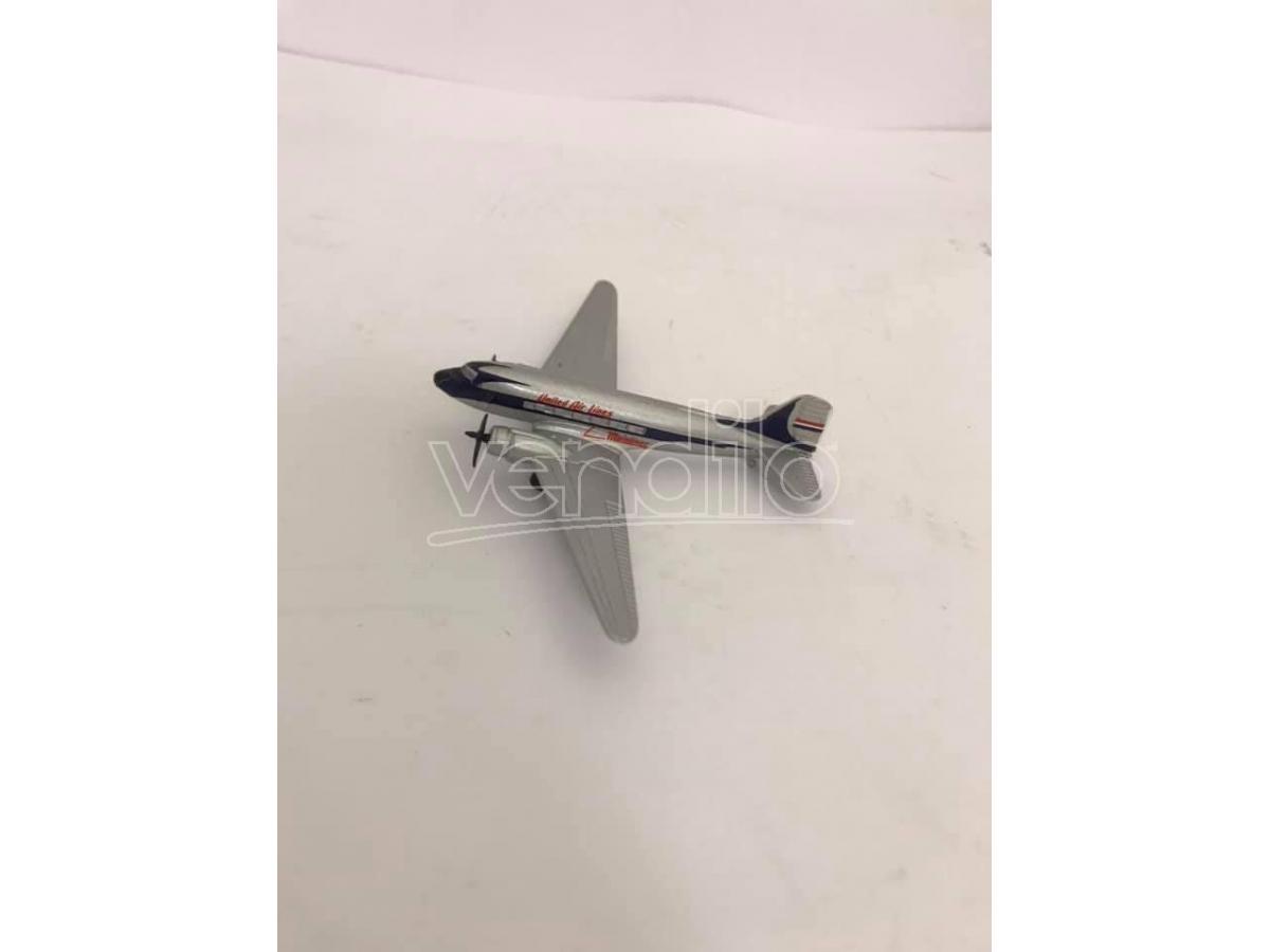 Schabak Aeroplano In Metallolo Douglas Dc-3 United Air Lines 1/250 Modellino
