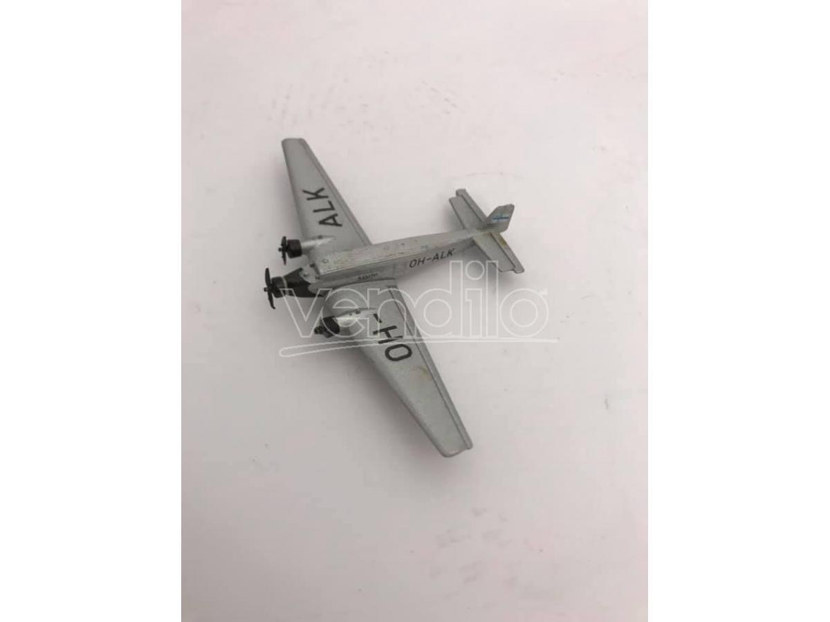 Schabak Aeroplano in Metallo Junkers JU-52 OA-ALK 1/250 Modellino Scatola Rovinata