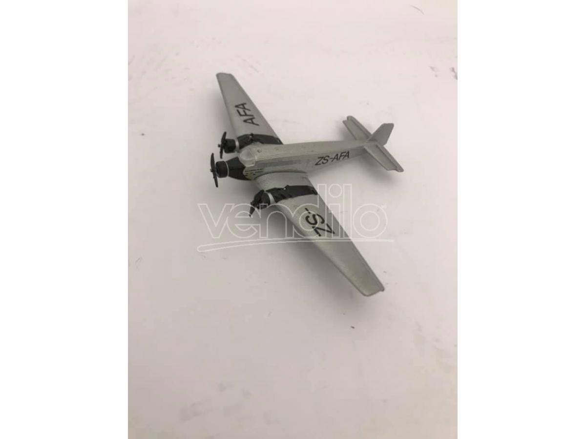 Schabak Aeroplano In Metallolo Junkers Ju-52 Zs-afa 1/250 Modellino Scatola Rovinata