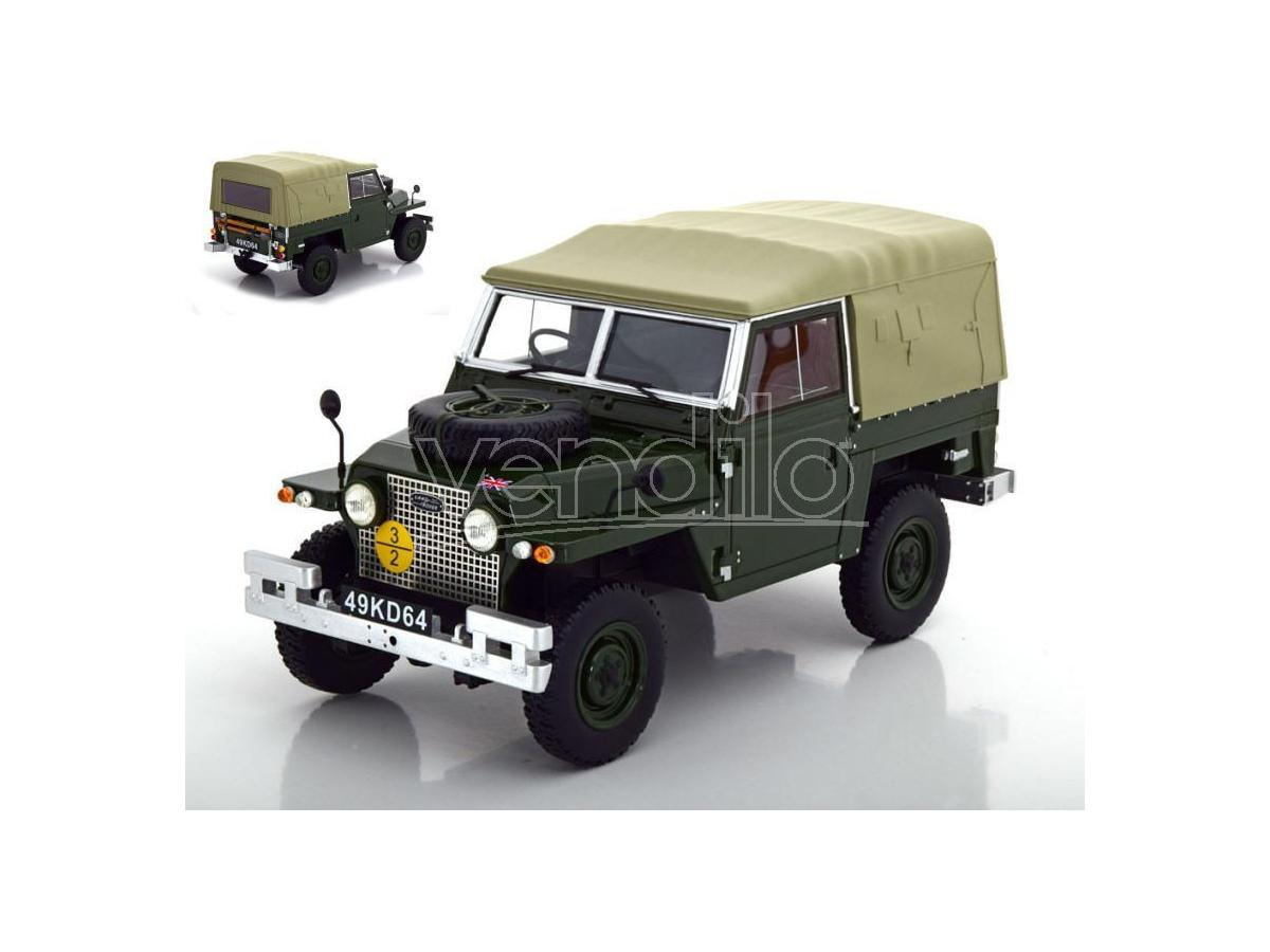 BOS MODEL BOS356 LAND ROVER LIGHTWEIGHT SERIES IIa SOFT TOP OLIVE GREEN 1:18 Modellino