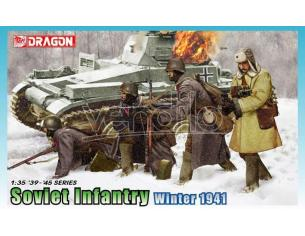 Dragon D6744 SOVIET INFANTRY WINTER 1941 KIT 1:35 Modellino