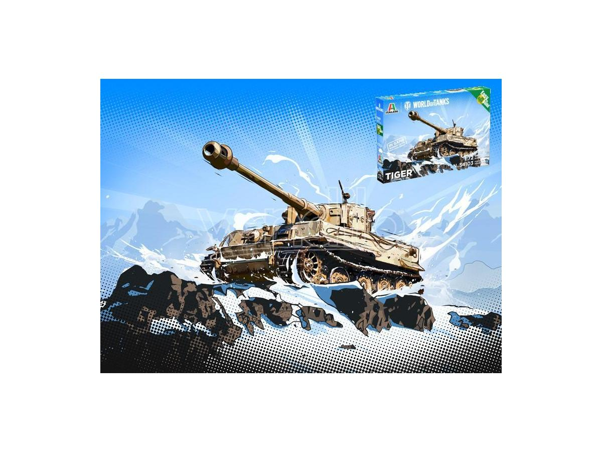 Italeri IT34103 WORLD OF TANKS PZKPFW.VI TIGER I KIT 1:72 Modellino