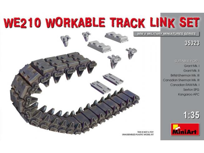 Miniart MIN35323 WE210 WORKABLE TRACK LINK SET KIT 1:35 Modellino