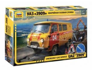 Zvezda Z43003 UAZ GAS SERVICE CAR KIT 1:43 Modellino