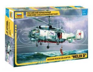 Zvezda Z7247 KA-27 RESCUE HELICOPTER KIT 1:72 Modellino