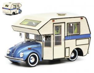 Schuco SH8899 VW BEETLE MOTORHOME BLUE 1:43 Modellino