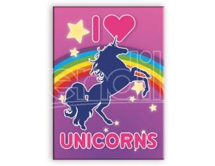 AQUARIUS ENT UNICORNS I LOVE FLAT MAGNET MAGNETI