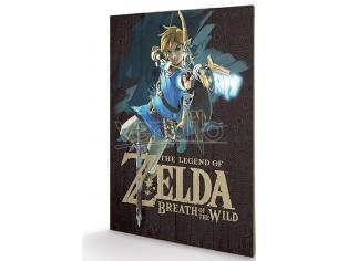 PYRAMID INTERNATIONAL LEG OF ZELDA BOTW GAME COVER WOOD PRINT STAMPA SU LEGNO