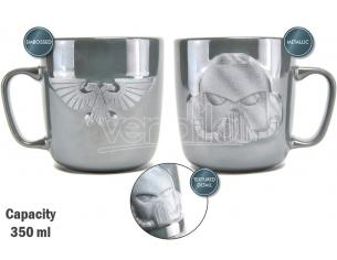 HMB W40K SPACE MARINE EMBOSSED METALLIC MUG TAZZA