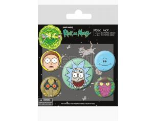 PYRAMID INTERNATIONAL RICK AND MORTY FACES BADGE PACK BADGE PACK