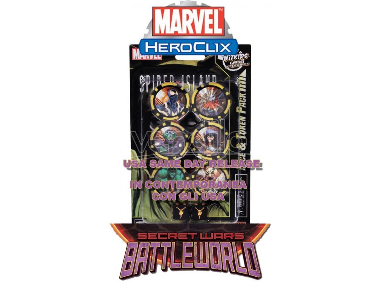Wizbambino Mhc Secret Wars-battleworld Dice & Token Gioco Da Tavolo