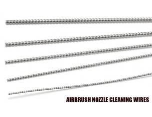 GSW AIRBRUSH NOZZLE CLEANING WIRES ACCESSORI PER MODELLISMO