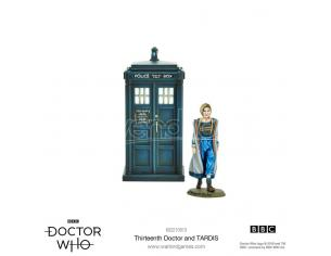 WARLORD GAMES DOCTOR WHO 13TH DOCTOR AND TARDIS Miniature e Modellismo