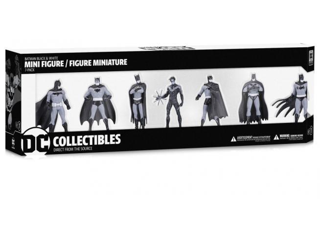 DC DIRECT BATMAN B&W MINI PVC FIG S.1 7-PACK MINI FIGURA