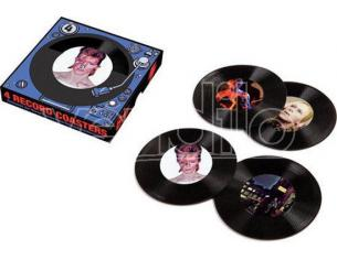 AQUARIUS ENT DAVID BOWIE RECORD COASTERS SOTTOBICCHIERI
