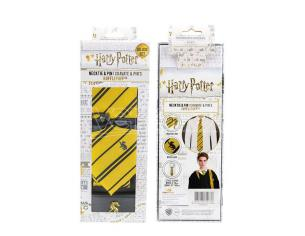 CINEREPLICAS HP HUFFLEPUFF NECKTIE DLX BOX SET CRAVATTA