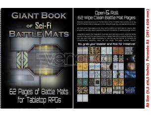 DM VAULT GIANT BOOK OF SCI-FI BATTLE MATS (A3) ACCESSORI